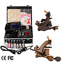 Damascus Hand-made 2 Tattoo Machines Kit with Superior LED Power Supply+ Free Adaptor