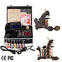 damas de premire qualit fabriqus  la main 2 machines de tatouage kit avec alimentation suprieure conduit (ly025)