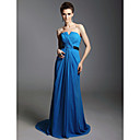 Clearance!Sheath/ Column Strapless Sweep/ Brush Train Chiffon Evening Dress inspired by Julia Louis-Dreyfus at Emmy Award