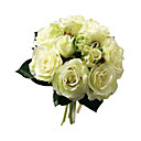 Elegant Silk Rose With Chiffon Decoration Round Wedding Bouquet/ Bridal Bouquet