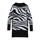 Zebra Patterns Long Sleeves Turtleneck Sweater Dress / Women's Dresses (FF-B-BI0857115)