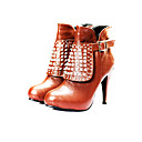 PU Upper High Heels Boot With Rhinestone Fashion Shoe(0987-CA31811)