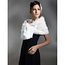 Sleeveless Faux Fur Bridal Wedding Jacket/ Wrap (0061-2)