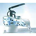 Single Handle Ceramic Waterfall Bathroom Sink Faucet 1039-M1014