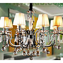 Iron Chrome 8-light K9 Crystal Chandelier With Lamp Shade (0835-AD88111)
