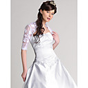 Half Sleeves Satin Lace Bridal Jacket/ Wedding Wrap
