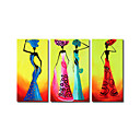Stretched 3-pc Handmade Abstract Painting Set (0192-YCF103966)