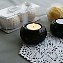 Sparkling Ceramic Ball Candle Holder with Tealight (Set of 2)