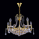 10-light Gold Color Bright Chrome K9 Crystal Chandelier (1069-J9867-D10)