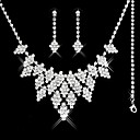 Gorgeous CZ Cubic Zirconia Wedding Bridal Jewelry Set(Including Necklace,Earing,Bracelet)(0986-S011)