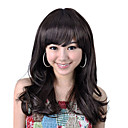 Capless Long High Quality Synthetic Dark Brown Curly Hair Wig