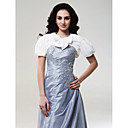 Short Sleeves Taffeta Bridal Jacket/ Wedding Wrap (0455-8)