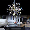 Chrome Finish Crystal Chandelier with 15 lights - Floral Shape Design