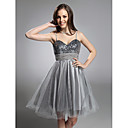 PATSY - Robe de Cocktail Taffetas  Sequins Tulle