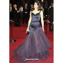 Satin Tulle Trumpet/ Mermaid Straps Sweetheart Evening Dress inspired by Marisa Tomei at the 83rd Oscar (FSH1102218)