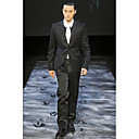 1 Button Notch Lapel Side-vented Groom Wear/ Tuxedo/ Men's Suit Jacket and Trousers