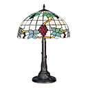 18 Inch Tiffany-style 2 light Grape Fruit Pattern Table Lamp (0835-G18279)