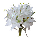 Elegant Silk Lily With Chiffon Decoration Round Wedding Bouquet /Bridal Bouquet