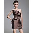 Sheath/Column Strapless Short/Mini Taffeta Cocktail Dress With Appliques
