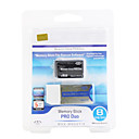 8GB Memory Stick Pro Duo Memory Card and Adapter