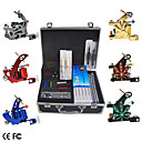 6 Guns Tattoo Kit with LCD Power and 54 Color Ink