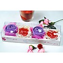 Lavender Rose Towel with Heart-shaped Soaps Set(set of 2)