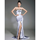 Clearance!Stretch Satin Sheath/ Column Sweetheart Sweep/ Brush Train Evening Dress