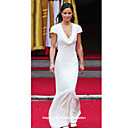 Satin Trumpet/ Mermaid Cowl Floor-length Bridesmaid Dress inspired by Pippa Middleton