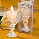 Stylish Bride and Groom Design Champagne Flute Candle Holder Favors