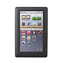 7 pollici touch screen 4gb e-book reader con fm / registratore / dizionario / giochi (nero)