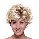 Capless Short High Quality Synthetic Blonde Curly Hair Wig