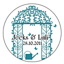 Personalized Favor Stickers - Garden Arch (pack of 90)