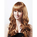 Capless Long High Quality Synthetic Nature Look Honey Brown Curly Hair Wig