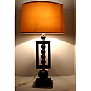Modern Table Light with Orange Fabric Lampshade (E27 Bulb Base)