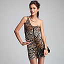 TS One-Shoulder Leopard Print Bodycon Dress