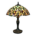 Tiffany style Leaf Pattern Stained Glass Table Lamp