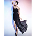Sheath/ Column Sweetheart Floor-length Chiffon And Sequined Evening Dress