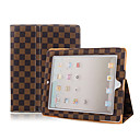 Brown Leather Case With Lattice For iPad2