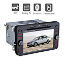 7 polegadas dvd player para carro volkswagen com gps do bluetooth tv