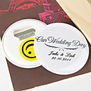Personalized Bottle Opener/Fridge Magnet - Our Wedding Day (set of 12)