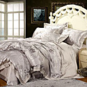 Elegant Jacquard 4-piece Queen-size Duvet Cover Set
