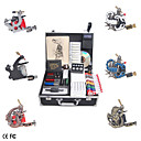 Complete Set Tattoo Kit with 6 Tattoo Guns and LCD Power Supply