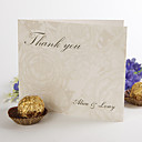 Folded Thank You Card - Blossom of peony(set of 50)