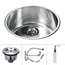 17 inch Undermount Stainless Steel Kitchen Sink (Single Round Bowl)