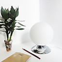 Modern Table Light in White Globe Shade