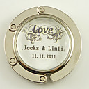 Personlaized Stainless Steel Compact Mirror Favor  Love Vines