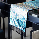 Colorful Peacock Table Runner