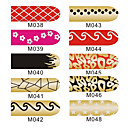 16pcs nail art folie armor wraps patch stickers manicure