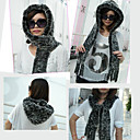 TS Built in Hood Rabbit Fur Scarf (Length 85cm Width 8cm)