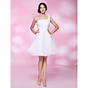 A-line One Shoulder Knee-length Chiffon Cocktail Dress